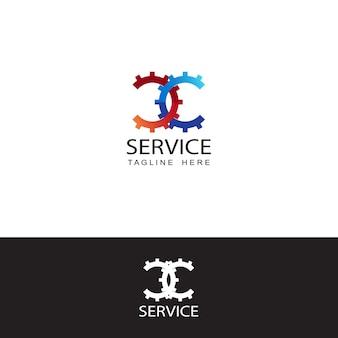 Logotipo de servicio, plantilla de logotipo de motivo automático