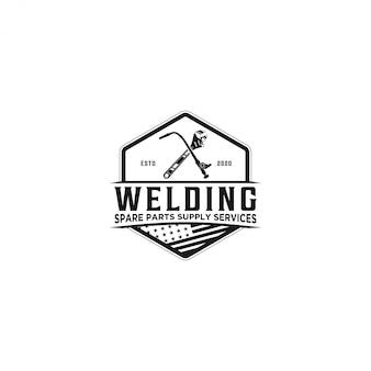 Logotipo de servicio de suministro de repuestos
