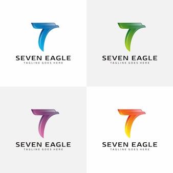 Logotipo de seven eagle