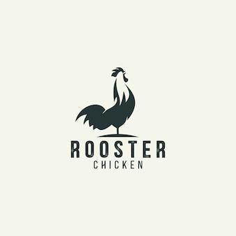 Logotipo de silueta de gallo