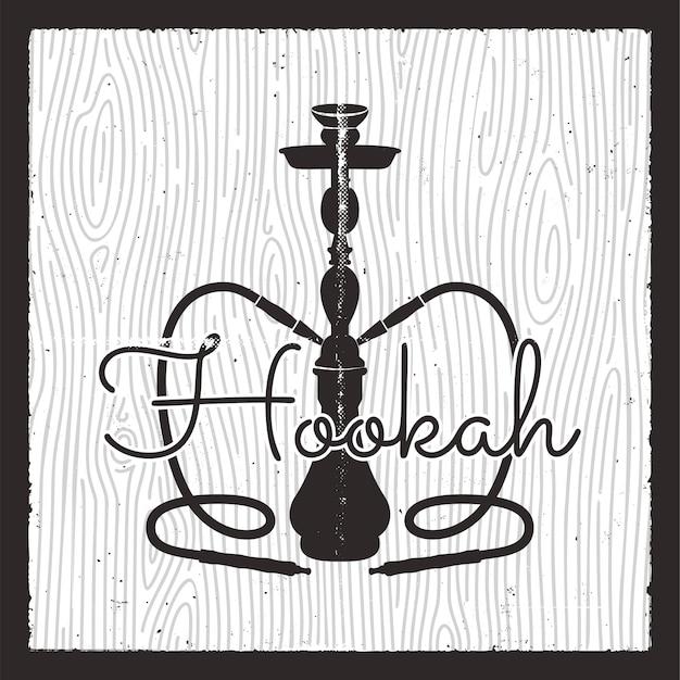 Logotipo de silueta de shisha.