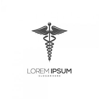 Logotipo de silueta de símbolo médico