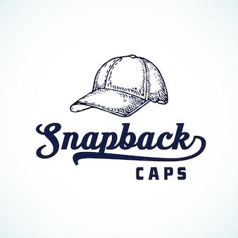Logotipo, símbolo o signo abstracto de gorras snapback
