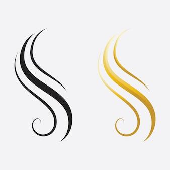 Logotipo y símbolos de mujer y rostro de cabello