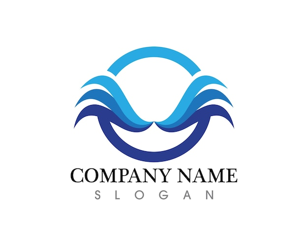 Logotipo y símbolos de waves beach