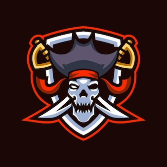 Logotipo de skull pirates esports