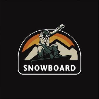 Logotipo de snowboard