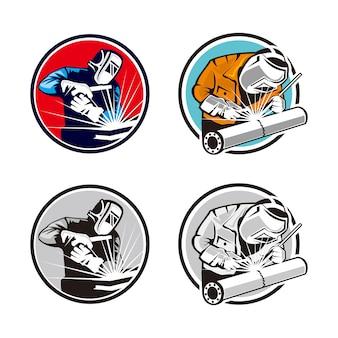 Logotipo de soldador