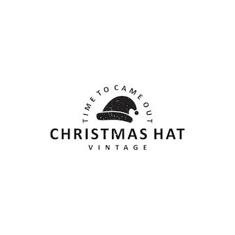 Logotipo de sombrero de navidad