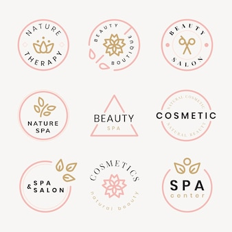 Logotipo de spa de belleza, conjunto de vectores de diseño moderno creativo