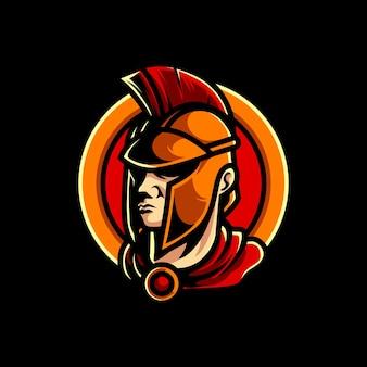 Logotipo spartan head e sport