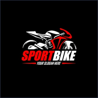 Logotipo de sport motorcicly