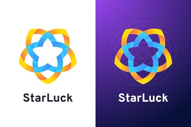 Logotipo de starluck abstracto degradado