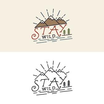 Logotipo de stay wild