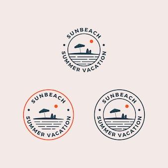 Logotipo de sun beach