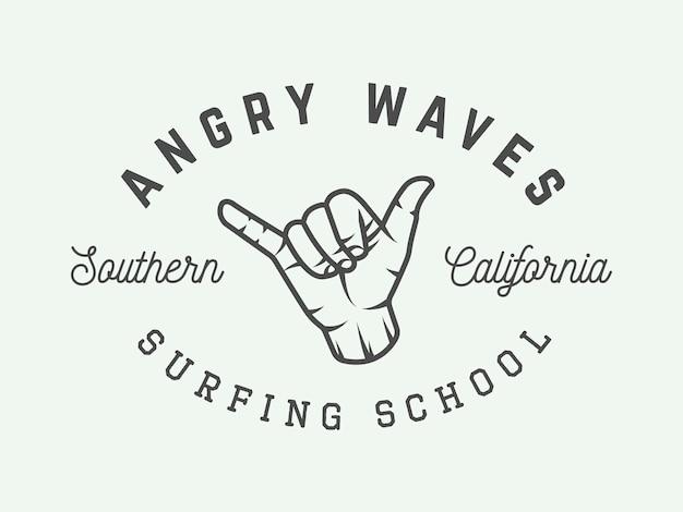 Logotipo de surf, emblema