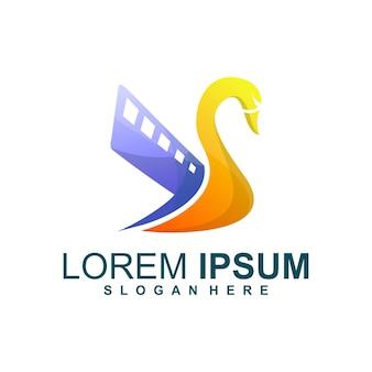 Logotipo de swan media
