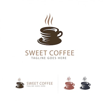 Logotipo de sweet coffee cup