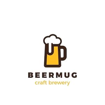 Logotipo de la taza de cerveza.