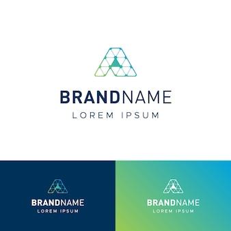 Logotipo de techy letra a