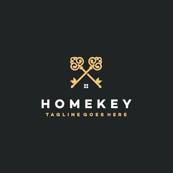 Logotipo de teclas elegantes