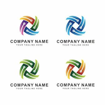 Logotipo de tecnología abstracta