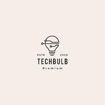 Logotipo de tecnología de bombilla inteligente