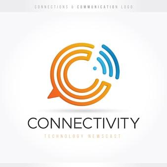 Logotipo de tecnología de comunicación