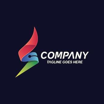 Logotipo de tecnología letra s