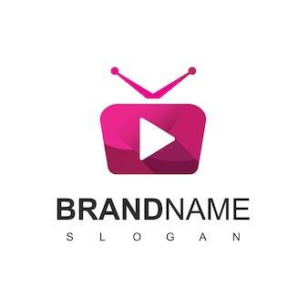 Logotipo de televisión, símbolo del reproductor multimedia