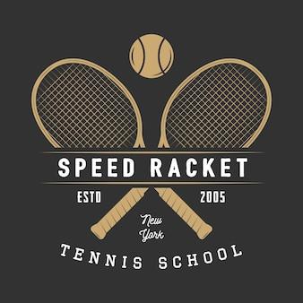 Logotipo de tenis, insignia