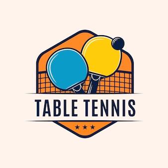Logotipo de tenis de mesa con detalles