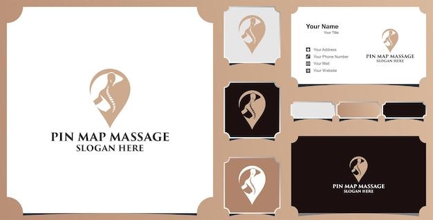 Logotipo de terapia de pin médico y tarjeta de visita