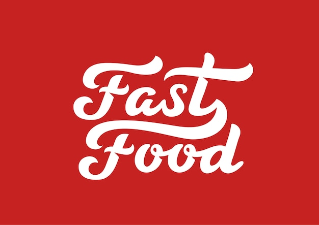 Logotipo de texto caligráfico de comida rápida letras