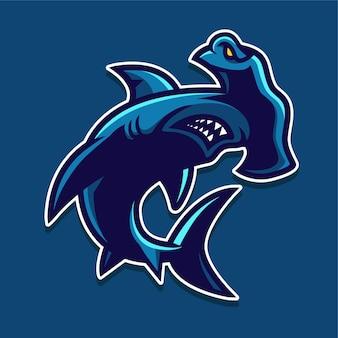 Logotipo de tiburón martillo