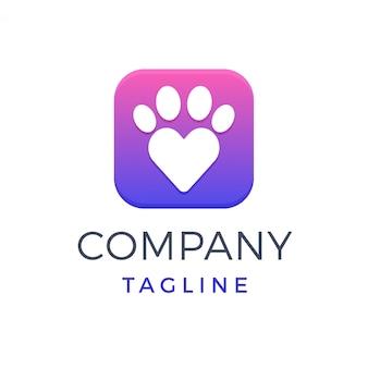 Logotipo de la tienda de amantes de mascotas