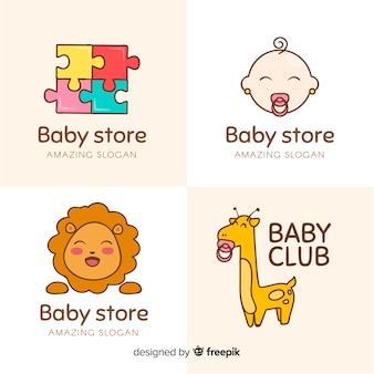 Logotipo de tienda para bebés
