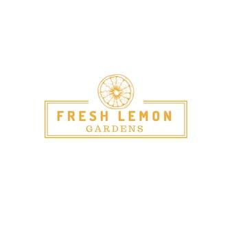 Logotipo de la tienda de la granja de frutas de limón