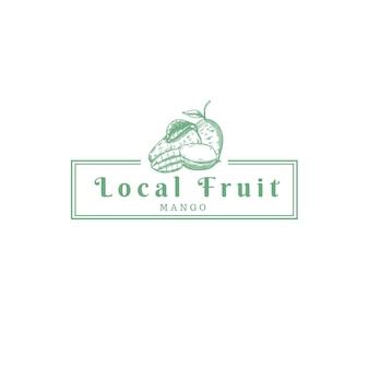 Logotipo de la tienda de la granja de frutas de mango