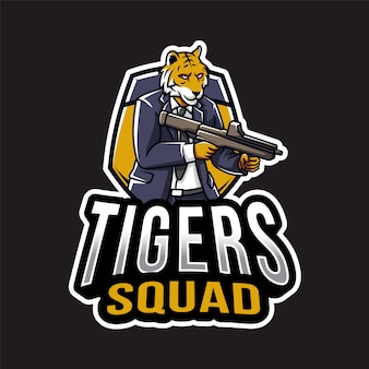 Logotipo de tiger gang esport