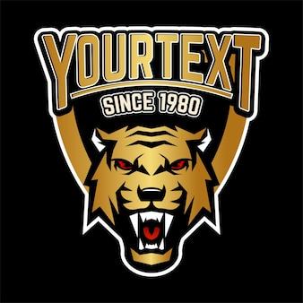 Logotipo de tiger sports