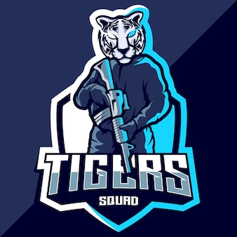 Logotipo de tiger squad esport