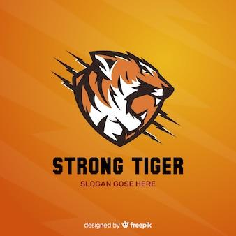 Logotipo de tigre fuerte