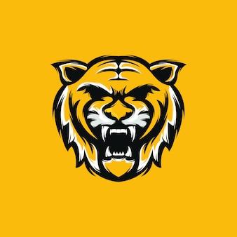 Logotipo de tigre premium