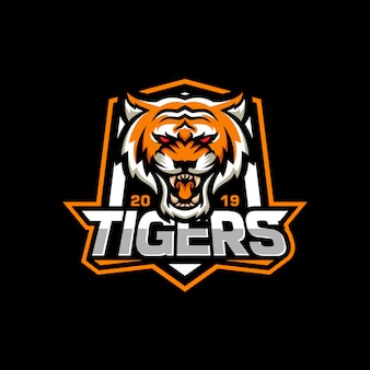Logotipo de tigre rugiente