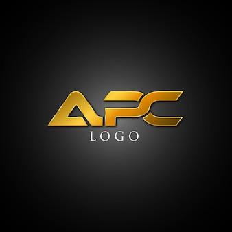 Logotipo de tipografía apc