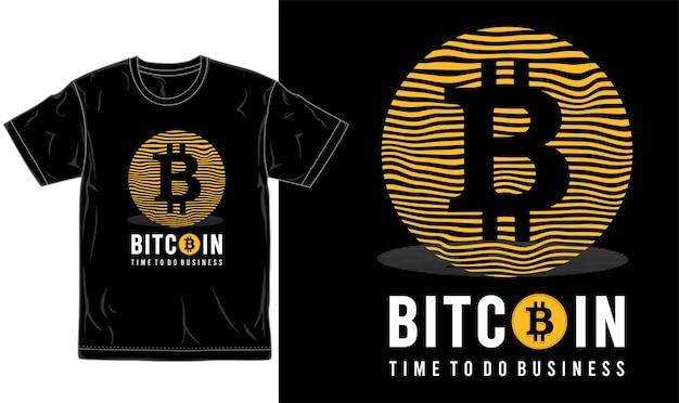 Logotipo y tipografía gráfica de diseño de camiseta de bitcoin.