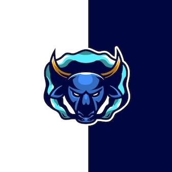Logotipo de toro azul