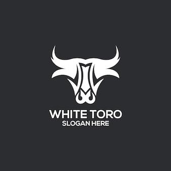 Logotipo de toro blanco