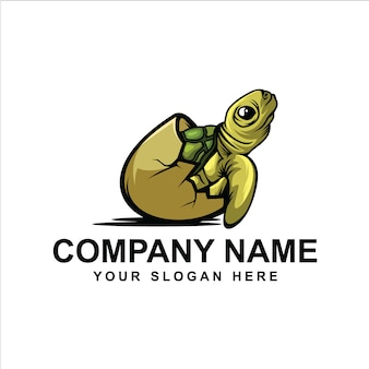 Logotipo de tortuga sombreada